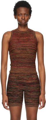 Isa Boulder Red and Beige Arcade Tank Top