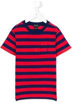 Ralph Lauren striped pocket T-shirt - kids - Cotton - 4 yrs