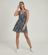 Thumbnail for your product : Reiss Cressida - Printed Mini Dress in Blue