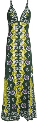 Temperley London Flux Printed Satin-jacquard Midi Dress
