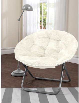 Idea Nuova Mongolian Fur Papasan Chair