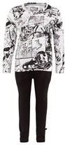 Little Eleven Paris Black And White Avengers Pyjamas