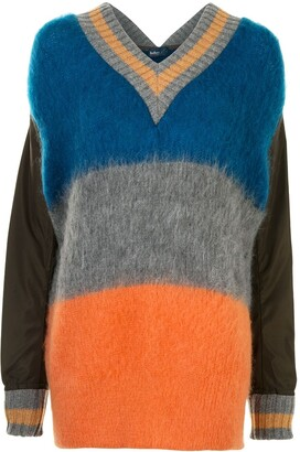 Kolor Oversized Colour-Block Jumper