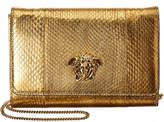 Versace Palazzo Metallic Leather Evening Clutch Bag