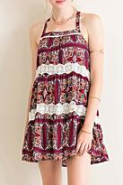Entro Medallion Print Dress