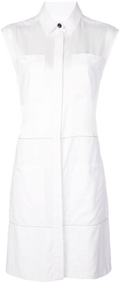 Proenza Schouler White Label Sleeveless Shirt Dress