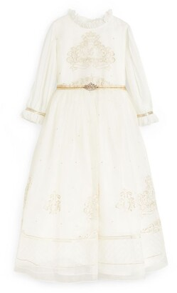 Lesy Royal Motif Maxi Dress (6-14 Years)