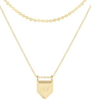 brook & york 14K Gold Plated Emily Initial Layering Necklace Set