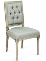 One Kings Lane Valeria Tufted Side Chair, China Blue