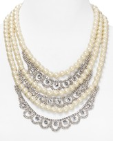 """Lydell NYC Three-Row Statement Necklace, 18"""""""