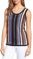 Anne Klein Women's Stripe Sweater Tank