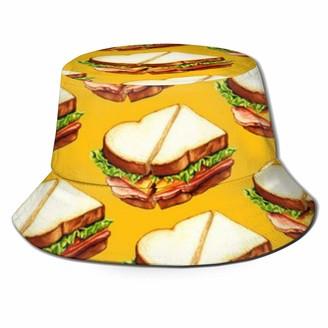 ghkfgkfgk Ham Sandwich Pattern Bucket Hat Unisex Sun Hat Fisherman Packable Trave Cap Fashion Outdoor Hat