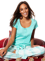 New York & Co. 2-Piece Pajama Set - Turquoise Plaid