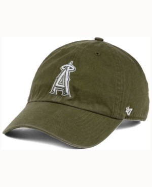 '47 Los Angeles Angels of Anaheim Olive White Clean Up Cap