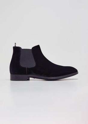 Giorgio Armani Men's Velvet Chelsea Boots