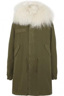 Mr & Mrs Italy Green Shearling Coats