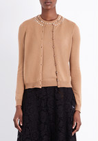 Valentino Rockstud Untitled cashmere top and cardigan twin set