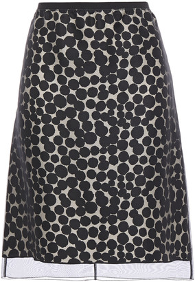 Marc Jacobs Organza And Polka-dot Silk-jacquard Skirt