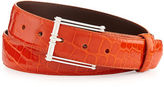 W.KLEINBERG W. Kleinberg Glazed Alligator Belt with Sterling Silver Buckle (Made to Order)