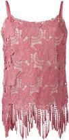 Alice + Olivia Alice+Olivia - floral embroidered fringed hem top - women - Polyester/Spandex/Elastane - 6