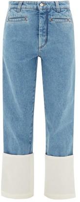 Loewe Fisherman Turn-up Cuff Jeans - Womens - Light Denim