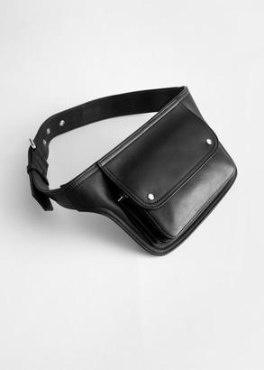 And other stories Leather Flap Pocket Belt Bag