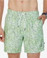"Nautica Men's Floral Drawstring 6 1/2"" Swim Trunks"