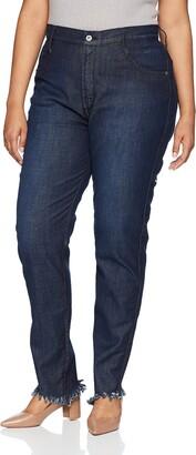 James Jeans Women's Plus Size High Rise Skinny Jean in Siren Fray 16W