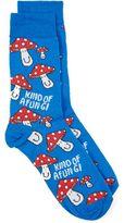 Topman Blue Kind of a Fungi Socks