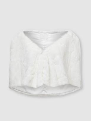 Unreal Fur Cuddles Wrap - Ivory