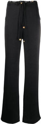 Nanushka High-Rise Wide-Leg Satin Trousers