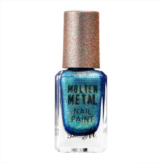 Barry M Molten Metals Nail Paint 10Ml Crystal Blue