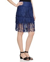 Romeo & Juliet Couture Tiered Fringe Skirt