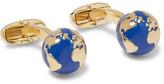 Paul Smith Gold-tone Enamel Globe Cufflinks - Blue