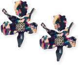 Lele Sadoughi Sculptural Crystal Lily Earrings