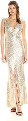 Ark & Co Women's Front Slit Bodycon Maxi Dress