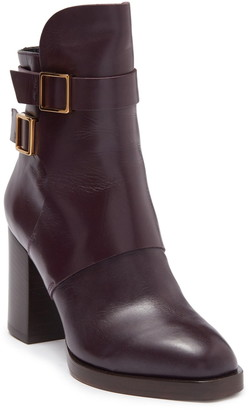 Tod's Buckled Leather Block Heel Boot