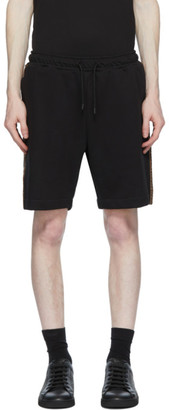 Fendi Black Forever Stripe Sweat Shorts