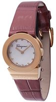Salvatore Ferragamo Women's FD8040013 Gancino Soiree Watch With Red Leather Band