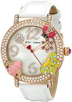 Betsey Johnson Women's BJ00364-03 Analog Display Quartz White Watch