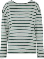 Current/Elliott The Breton Striped Cotton-Blend Jersey T-Shirt