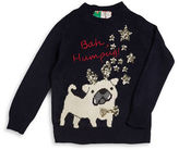 Poof Girls 2-6x Sequined Hum-Pug Sweater