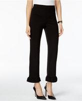 Alfani Petite Ruffle-Hem Cropped Pants, Only at Macy's