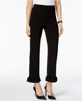 Alfani PRIMA Ruffed Straight-Leg Pants, Only at Macy's