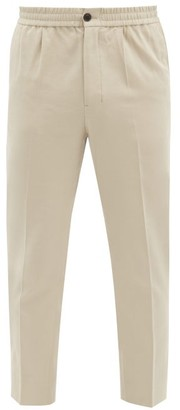 Ami Cropped Cotton-twill Chinos - Beige