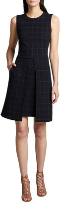 Akris Windowpane Double-Face Dress