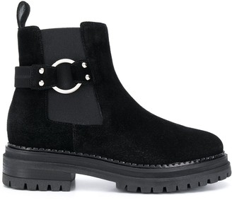 Sergio Rossi Side Buckle Boots