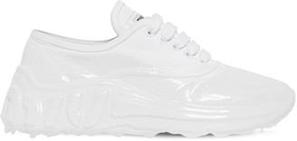 Miu Miu 40mm Cotton Canvas Melted Sneakers