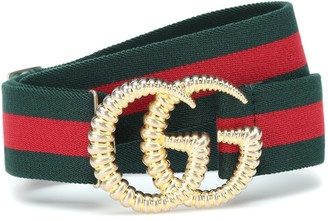 Gucci GG striped web belt