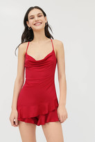 Urban Outfitters Kendal Ruffle Cowl Neck Romper